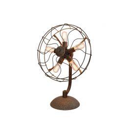 Lampa stołowa Fan w formie wentylatora w stylu industrialnym
