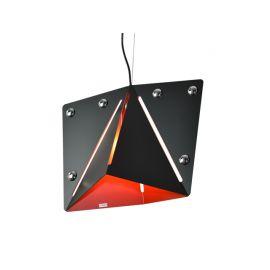 Designerska modna lampa wisząca KIRIGAMI black-orange Super Nowość