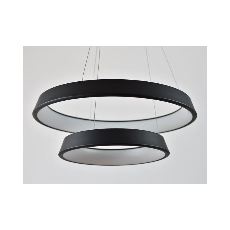 Designerska lampa wisząca LED Orbit RP2 z podwójnym ringiem