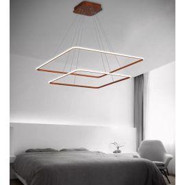 Nowoczesna lampa LED QUADRATA 2 w kolorze miedzianym postarzanym 85W barwa neutralna