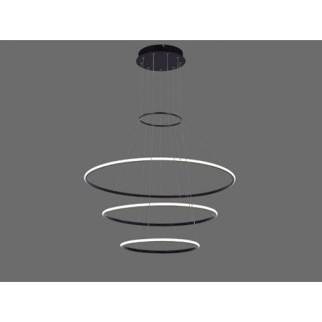 Nowatorska lampa sufitowa wisząca led GALAXY 3 w kolorze czarnym o dużej mocy świetlenej 110W Nowość