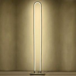 Designerska lampa podłogowa LED Luce di Vicolo w kolorze srebrnym o mocy 60W 4000K