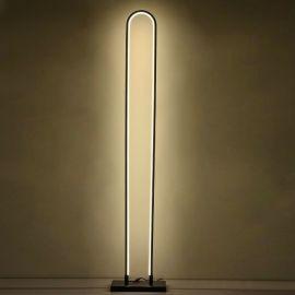 Modernistyczna lampa podłogowa LED Luce di Vicolo w kolorze coffee o mocy 60W 4000K