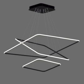 Nowoczesna lampa LED QUADRATA 3 w kolorze czarnym 110W Nowość