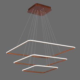 Nowoczesna lampa wisząca LED QUADRATA 3 w kolorze miedzianym postarzanym 110W Nowość