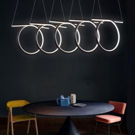 Nowoczesna lampa led HELIX 5 w kolorze coffee o mocy 110W barwa 4000K