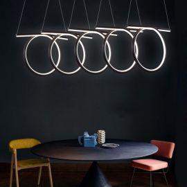 Nowoczesna lampa wisząca HELIX 5 w kolorze coffee wykonana w technologii LED o dużej mocy 110W Nowość