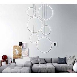 Designerska lampa sufitowa LEDVISION H w kolorze srebrnym wykonana w technologii LED o mocy 130W Nowość