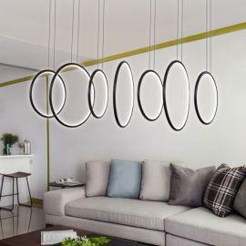 Nowoczesna lampa wisząca led LEDVISION L w kolorze coffee o bardzo dużej mocy 180W Nowość