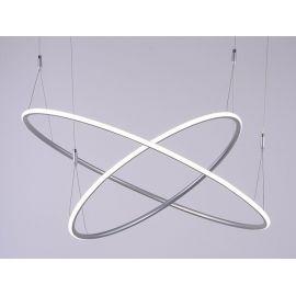 Designerska lampa wisząca led MILANO 2 w kolorze srebrnym o mocy 85W Nowość