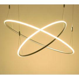 Designerska lampa wisząca led MILANO 2 w kolorze srebrnym o mocy 75W 4000K