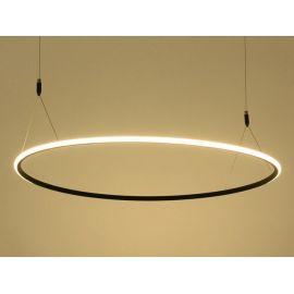 Ultranowoczesna lampa sufitowa led MILANO w kolorze czarnym o mocy 40W Nowość