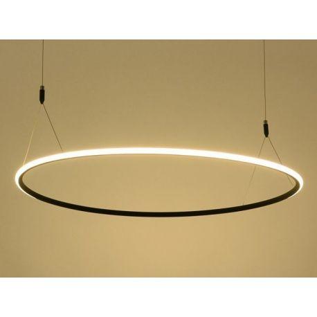 Ultranowoczesna Lampa Sufitowa Led Milano W Kolorze Czarnym O Mocy