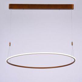 Designerska lampa sufitowa led MILANO w kolorze miedzianym o mocy 40W 4000K