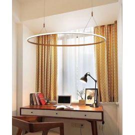 Designerska lampa sufitowa led MILANO w kolorze miedzianym o mocy 48W Nowość