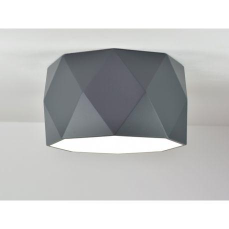 Plafon LED szary MINIMALISMO w wersji SH o oryginalnym geometrycznym kształcie 34W
