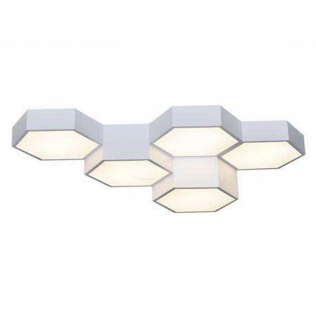 Heksagonalny plafon FAVO 5 wykonany w technologii LED 60W biały Nowość