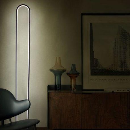 Nowoczesna Lampa Podłogowa Led Luce Di Vicolo W Kolorze Czarnym O