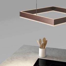 Designerski żyrandol Led PIAZZA quadro o mocy 49W Nowość
