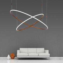 Designerska lampa wisząca led MILANO 2 w kolorze miedzianym o mocy 85W Nowość