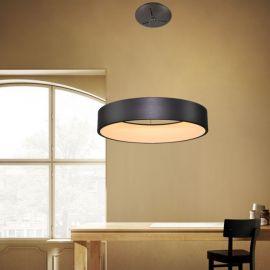 Designerska lampa LED COSMO II 60cm w kolorze metalicznym Mocca 36W