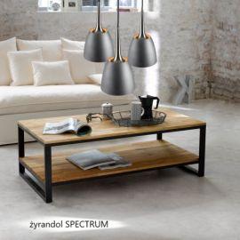 Żyrandol SPECTRUM S z nowej kolekcji lamp w kolorze stalowo-betonowym w wersji L