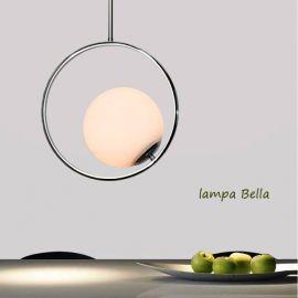 Stylowa lampa sufitowa Bella chromowana w stylu Glamour