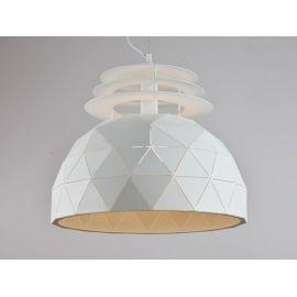 Industrialna lampa wisząca Oslo L 50cm biała w skandynawskim stylu