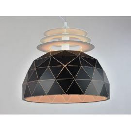 Industrialna ogromna lampa wisząca Oslo L 50cm black w skandynawskim stylu