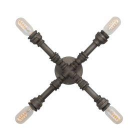 Industrialna lampa sufitowa lub kinkiet z rur wodnych