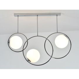Designerska Lampa Sufitowa Bella 3 chromowana