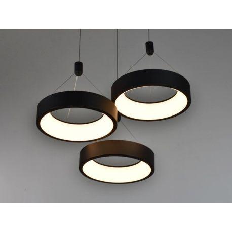 Nowoczesna lampa LED MERCURY w wersji okrągłęj z 3 ringami w kolorze metalicznym Mocca 54W