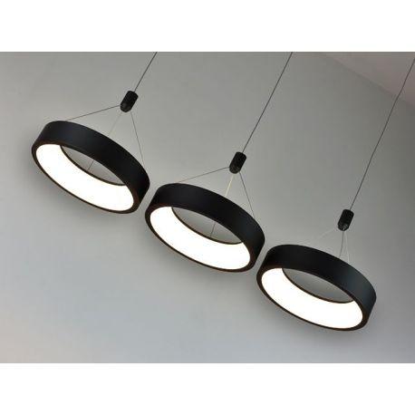 Nowoczesna lampa LED MERCURY w wersji podłużnej z 3 ringami w kolorze metalicznym Mocca 54W