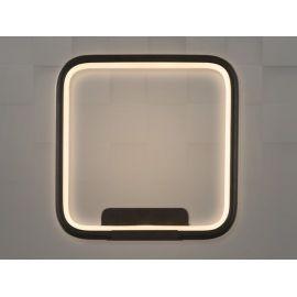 Designerski kinkiet Pista Illuminata SQ czarny wykonany w technologii LED Nowość 20W