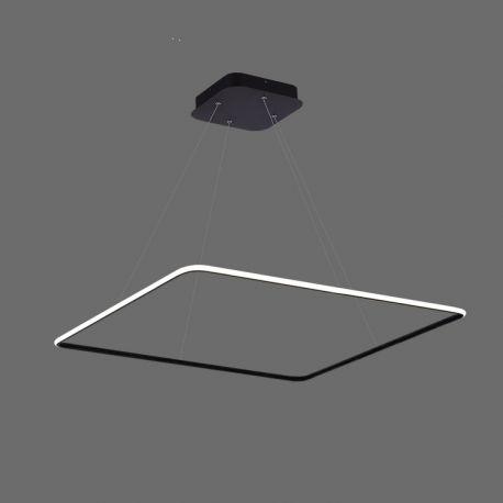 Nowoczesna lampa wisząca QUADRATUM czarna wykonana w technologii LED Nowość 48W