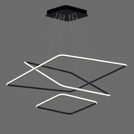 Nowoczesna lampa wisząca LED QUADRATA 3 w kolorze czarnym 110W Nowość