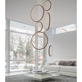 Designerska lampa led LEDVISION H czarna 130W z ciepłą barwą 3000K