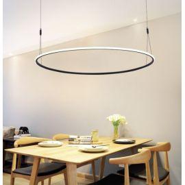 Designerska lampa led MILANO czarna 40W z ciepłą barwą 3000K