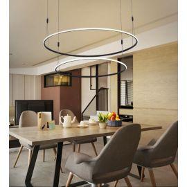 Designerska lampa led MILANO 2 czarna 75W z ciepłą barwą 3000K Nowość