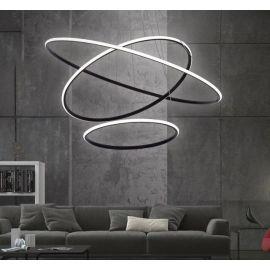Designerska lampa led GALAXY X3 w kolorze czarnym 93W barwa ciepła 3000K Nowość
