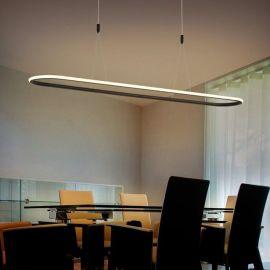 Nowoczesna lampa led Luce di Vicolo 120cm czarna 52W z ciepłą barwą 3000K