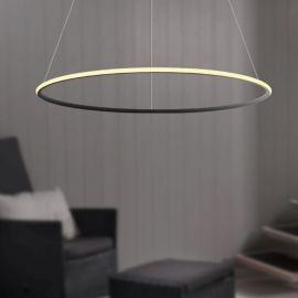 Nowoczesna lampa led GALAXY X1 czarna o mocy 40W barwa ciepła 3000K