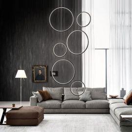 Designerska lampa sufitowa LEDVISION H w kolorze srebrnym wykonana w technologii LED o bardzo dużej mocy 180W Nowość