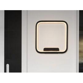Designerski kinkiet led Pista Illuminata SQ 20cm czarny 13W z barwą ciepłą 3000K
