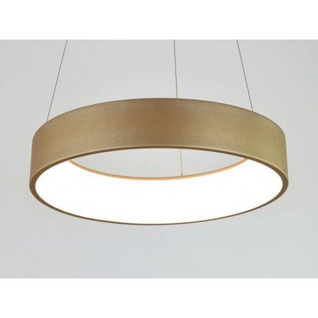 Nowoczesna złota lampa led COSMO RP 36W 60cm z barwą ciepłą 3000K