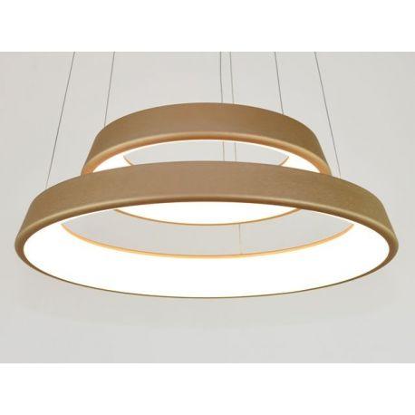 Ultranowoczesna lampa led Orbit RP2 złota 60/40cm barwa ciepła 3000K