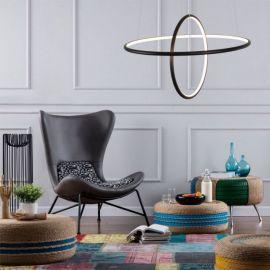 Designerska lampa led Galaxy T czarna 53W z ciepłą barwą 3000K Nowość