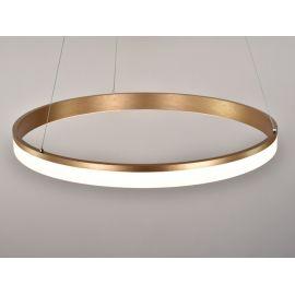 Złota lampa led Saturn 48W, 80cm barwa ciepła 2700K Nowość