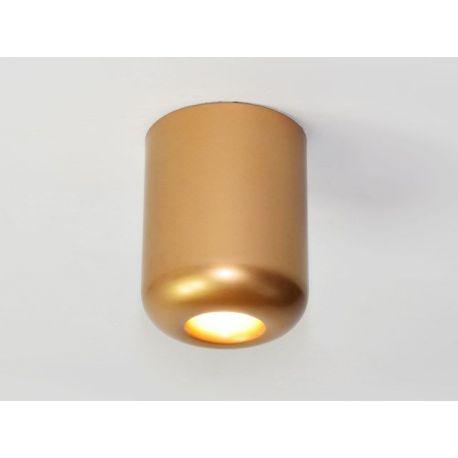 Plafon led APEX w wersji L z barwą ciepłą o mocy 5W gold Nowość