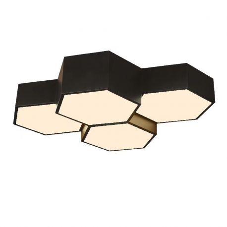 Heksagonalny plafon FAVO 4 wykonany w technologii LED 48W Nowość